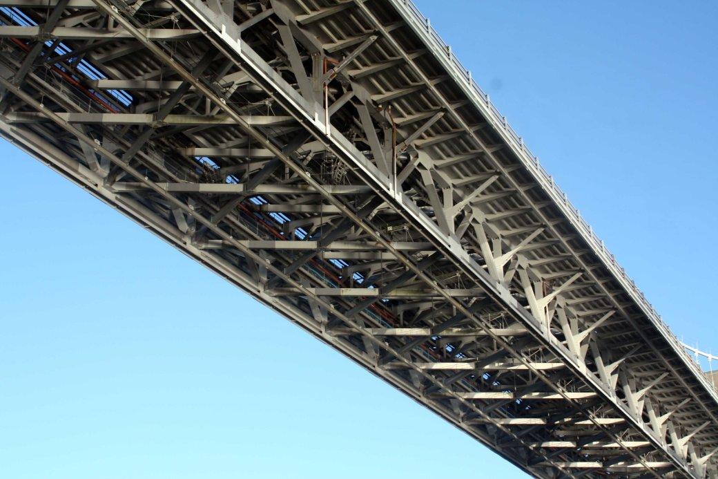 Tamar bridge close up